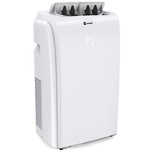 Vremi 10,000 BTU Portable Air Conditioner - Quiet Air Conditioning Machine for 400 to 450 Square Feet Home Office Rooms - LED Display Auto Shut Off and Dehumidifier Function - Remote Control Included