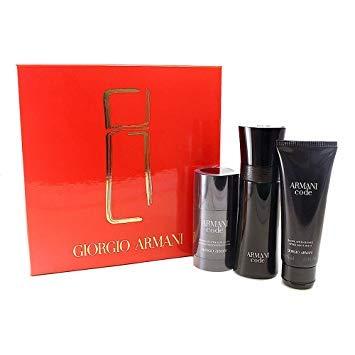 (Giorgio Armani Armani Code By Giorgio Armani for Men - 3 Pc Gift Set 2.5oz Edt Spray, 2.6oz Deodorant Stick, 2.5oz After Shave Balm, 3count)