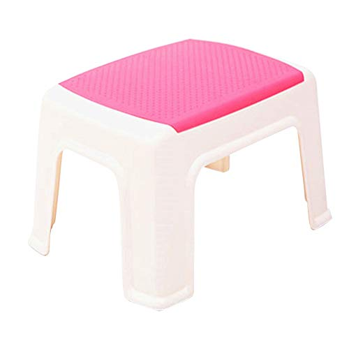- Footrest Plastic Bathroom Stool Stool Pregnant Adult Household Step Stool 332321cm HUYP (Color : Pink)