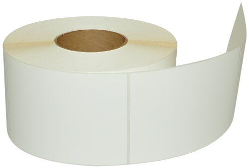Compulabel Thermal Transfer Shipping Labels, 4 inch x 6 inch, White, Permanent Adhesive, Kimdura BOPP, Perforations Between Labels, 900 Per Roll, 4 Rolls