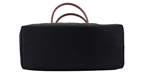 cabas Noir en nylon Marron anses longues Sac Hexagona 172477 q05nOwTwg