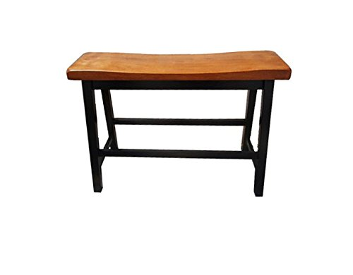 Denise Austin Home Toluca Saddle Wood Counter Dining Bench (Set of 2) by Great Deal Furniture