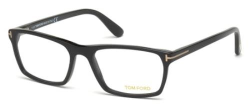 Tom Ford FT5295 Square Black Optical 56 Clear Lens Eyeglasses TF5295 002 - Tom New Ford
