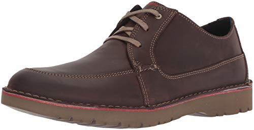 CLARKS Men's Vargo Walk Oxford, Dark Brown Leather, 075 M -