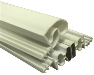 Strybuc Industries 900-9000S-25 Magnetic Weatherstrip Set, White, 84'' x 36'' x 84'', Plastic, 83'' x 0.8'' x 3.5''