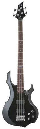 ESP LTD Standard F104 Electric Bass Guitar, Black - 2007 4 Modello
