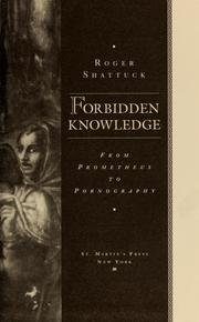 Download Forbidden Knowledge - From Prometheus To Pornography - Book