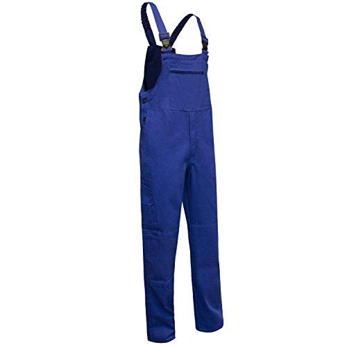 KERMEN Latzhose Hamburg Kombihose Arbeitskleidung Berufsbekleidung Größe : 48, Farbe : Kornblau