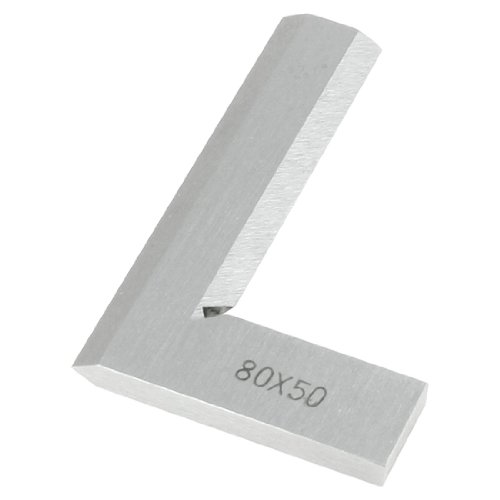 uxcell 80mm x 50mm Non-Marked Scale Angle Ruler Beveled Edge