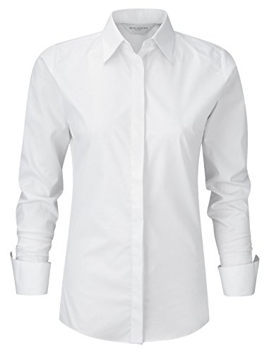 Russell Collection Damen Ultimate Stretch Shirt 960F weiß L