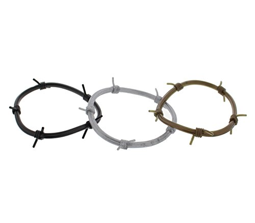 Zac's Alter Ego®� Set of 3 Barbed Wire Gummy Bangles/Bracelets/Shag Bands