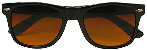 [Sunglass Stop - Black Classic Horned Rim Blue Blocking Lens Sunglasses (Black, 60)] (Vintage Halloween Costumes From The 80s)