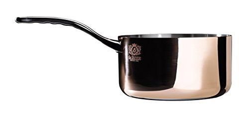 PRIMA MATERA Round Copper Stainless Steel Saucepan 7-Inch by De Buyer