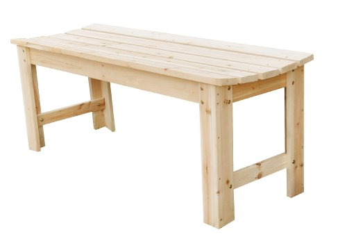 Backless Wood Bench - 5