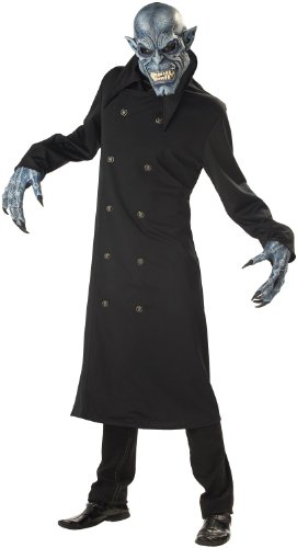 California Costumes Men's Night Fiend Costume, (Black Night Costume)