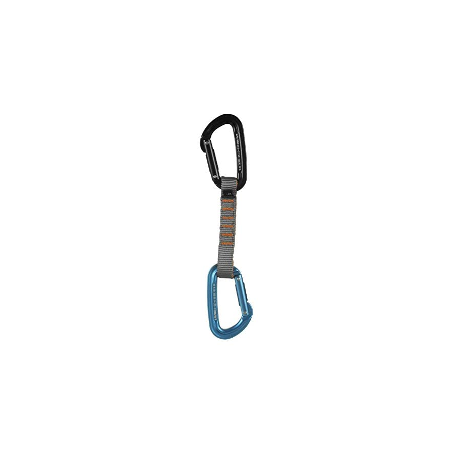 Fusion Climb 11cm Quickdraw with Contigua Blue Straight Gate Carabiner/Contigua Black Straight Gate Carabiner