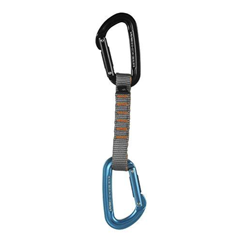 Fusion Climb 11cm Quickdraw with Contigua Blue Straight Gate Carabiner/Contigua Black Straight Gate Carabiner