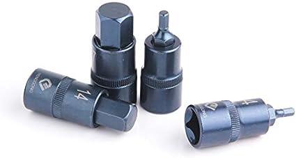 Screwdriver Occus Socket Set 1//2 Hex Screwdriver Bits Drive Socket Adapter 4-17mm Auto Repair Hand Tools 1pc Color: H14