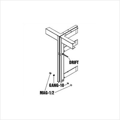 """1/2"""" Magnetic Socket for Ease in Ganging Racks, 3/8"""" Drive, 2 Pieces"""