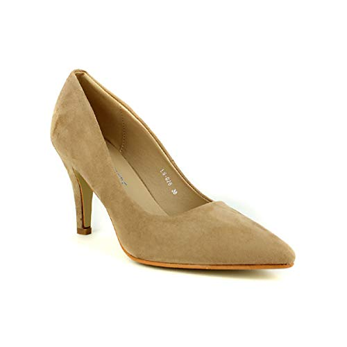 Color Cendriyon Femme Chaussures Taupe Laura Escarpin Mode Z7ngw7qU5