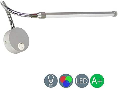 Dimmable 9W Led Wall LampSwivel and Spot Acrylic Switch Modern Spotlight Height Adjustable Metal Lighting