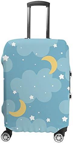 スーツケースカバー 星の月 伸縮素材 キャリーバッグ お荷物カバ 保護 傷や汚れから守る ジッパー 水洗える 旅行 出張 S/M/L/XLサイズ