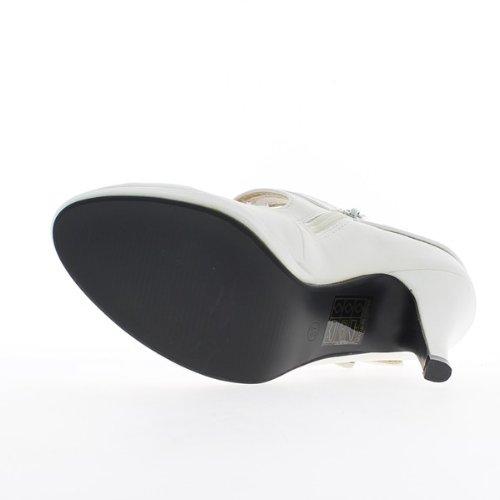 Schuhe Frauen weiß Ferse 10 cm und Mini-Plattform