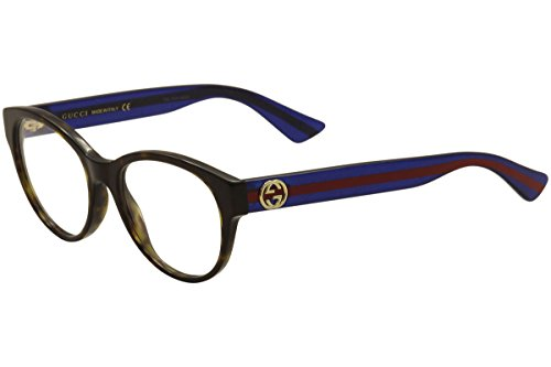 Gucci GG0039O Optical Frame 003 Havana Blue Transparent 52 mm by Gucci