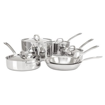 Viking 3-Ply Stainless Steel Cookware Set, 10 Piece by Viking Culinary