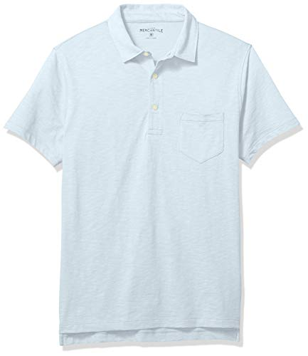 J.Crew Mercantile Men's Short-Sleeve Polo Shirt, Classic Sky, XL ()