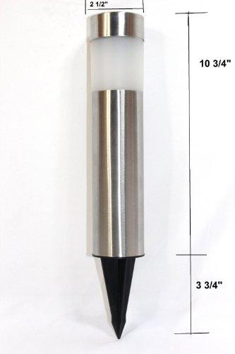 4 Pack Garden Solar Bollard Light With White Led Stainless Steel Buy Online In Uae Lawn