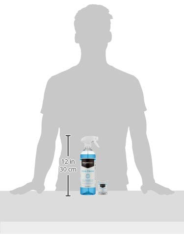 Amazon Basics Dissolvable Glass Cleaner Kit with 3 Refill Pacs