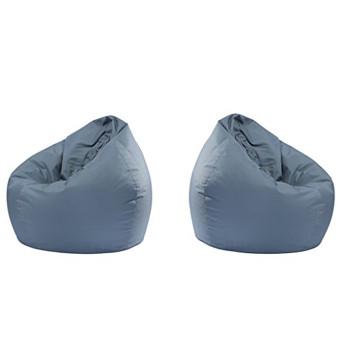 Serenable 2 Pieces Stuffed Storage Bird Nest Bean Bag Chair for Kids and Adults Beanbag Cover Stuffed Animal - Gray (Birds Nest Bean Bag)