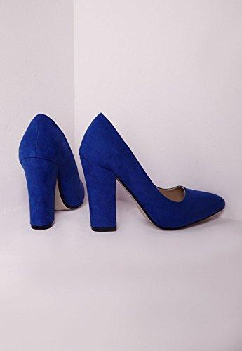 ea068f2908 Womens Block Heel Court Shoes Cobalt Blue - 4: Amazon.co.uk: Shoes ...
