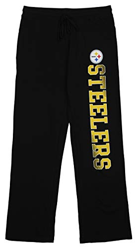Concepts Sport NFL Ladies Steelers Ladies Knit Pant BLK LGE Large ()