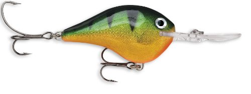 Rapala Dives-To 10 Fishing lure, 2.25-Inch, Perch