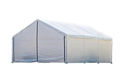 ShelterLogic SuperMax Canopy Enclosure Kit, White, 18 × 20 ft. (Frame and Canopy Sold Separately)