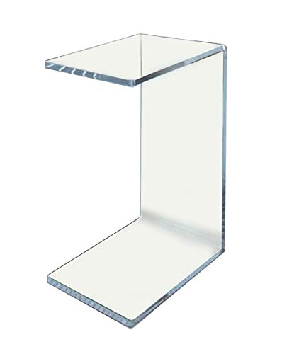 """Clear Acrylic Occasional Table 23"""" high Under Couch, Laptop Stand"""