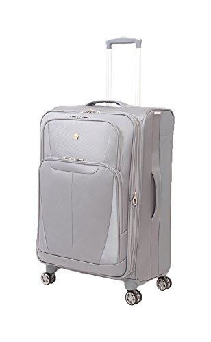"""SwissGear Baden 24.5"""" Expandable Spinner Suitcase, Silver"""