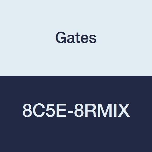 Gates 8C5E-8RMIX Field Attachable for C5E Hose Male SAE 45 Flare Inverted Swivel 13//32 ID 13//32 ID Steel