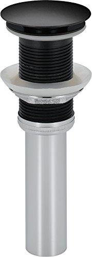 (Delta Faucet 72172-BL Zura Push Pop-Up Less Overflow,)