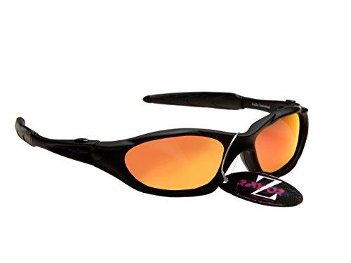 Rojo profesionales de Deportes Rayzor lente Wrap Gafas negros anti Iridium sol UV400 un espejo Revo Running de deslumbramiento ligeros con Tqqw8Ixd