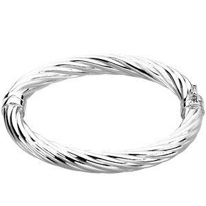 Bracelet à Charnière en argent sterling Bracelet 17,8cm
