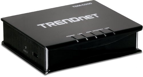 TRENDnet 1-Port ADSL 2/2+ Fast Ethernet/USB Combination Modem Router TDM-C500 (Black) by TRENDnet