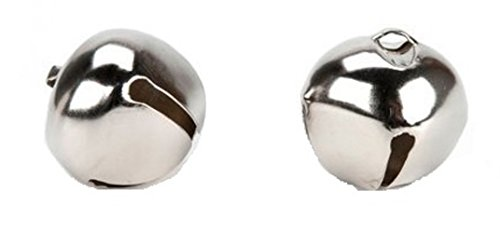 Bulk Buy: Darice DIY Crafts Jingle Bells Silver 1.5 inches 2 pieces (6-Pack) 1090-18 by Darice