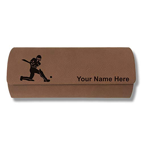 Sunglass Case, Cricket Player, Personalized Engraving Included (Dark ()