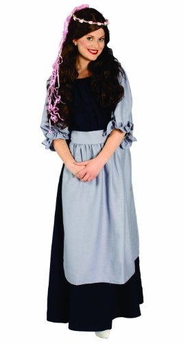 Renaissance Village Lady Costumes (Alexanders Costumes Renaissance Village Lady, Blue, One Size)