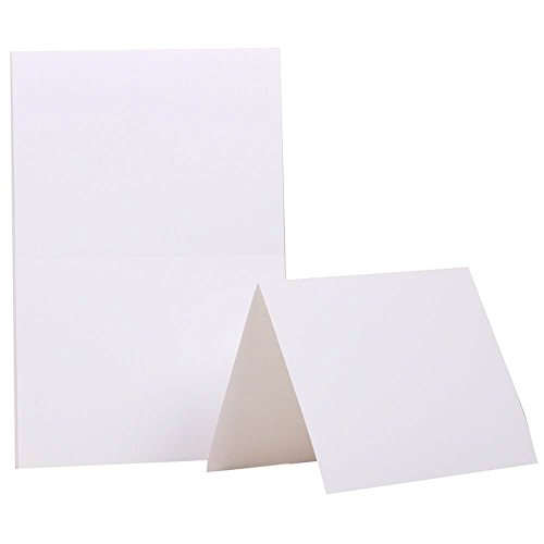 JAM PAPER Blank Foldover Cards - 4 3/8 x 5 7/16 (Fits in A2 Envelopes) - White - 100/Pack