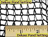 GREEN VISTA DELUXE KNITTED POND NET / NETTING - 10x20 Feet Size for Koi Ponds and Water Gardens - Tangle Free and Reusable - 1/4x3/8 Inch Mesh Keeps Out Animals and Debris - Black