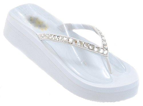 Diamond Rhinestone Platform Wedding Sandals product image